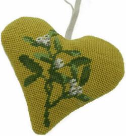 Mistletoe Heart tapestry kit by Cleopatra needle