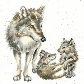 Wolf Pack Cross Stitch Kit by Hannah Dale