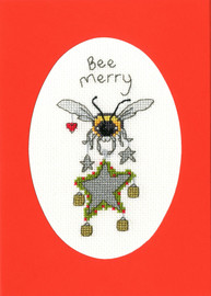 Bee Merry Cross Stitch Card Kit by Eleanor Teasdale
