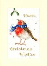 Warm Wishes Cross Stitch Card Kit by Hannah Dale