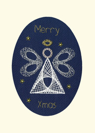 Christmas Angel Cross Stitch Card Kit by Bothy Designs