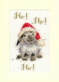Ho! Ho! Ho! Cross Stitch Card Kit By Hannah Dale
