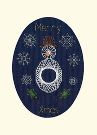 Christmas Snowman Cross Stitch Card Kit by Bothy Designs