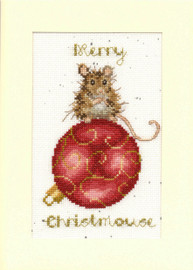 Merry Christmouse Cross Stitch Card Kit by Margaret Sherry