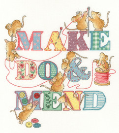 Make Do and Mend Cross Stitch Kit by Margaret Sherry