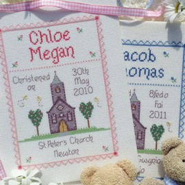 Christening Cross stitch Chart only By Nia