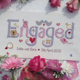 Engagement Cross Stitch Chart only By Nia
