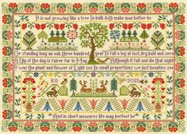 Oak Tree Cross Stitch Kit by Moria Blackburn