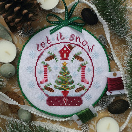 Christmas Snow Globe Cross stitch Chart only By Nia