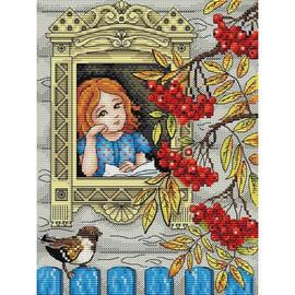 Autumn Season Cross Stitch Kit By MP Studia
