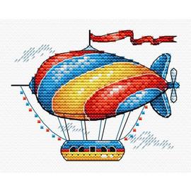 Fantastic Airship Cross Stitch Kit By MP Studia