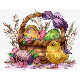 Holiday Basket Cross Stitch Kit By MP Studia