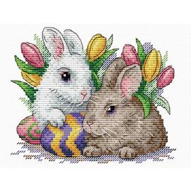 Fluffy Friends Cross Stitch Kit By MP Studia