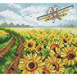 Sea Of Sunflowers Cross Stitch Kit By MP Studia