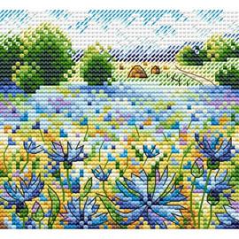Cornflower Field Cross Stitch Kit By MP Studia