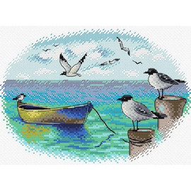 At The Pier Cross Stitch Kit By MP Studia