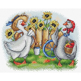 Two Cheerful Geese Cross Stitch Kit By MP Studia