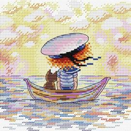 On The Waves Cross Stitch Kit By MP Studia