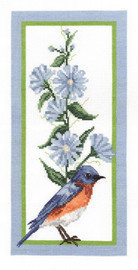 Floral Bluebird Counted Cross Stitch Kit By Janlynn