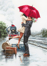 Couple on the Station Counted Cross Stitch Kit By Luca-S