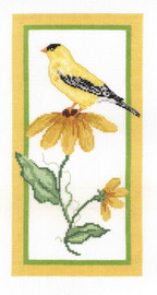 Floral Goldfinch Counted Cross Stitch Kit By Janlynn