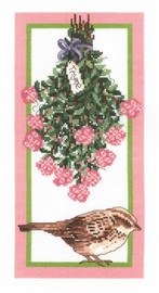 Floral Sparrow Counted Cross Stitch Kit By Janlynn