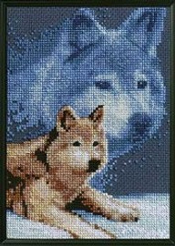 Wolf Counted Cross Stitch Kit By Janlynn
