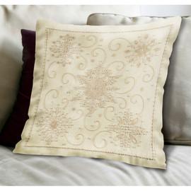 Snowflake Pillow Christmas Kit By Janlynn
