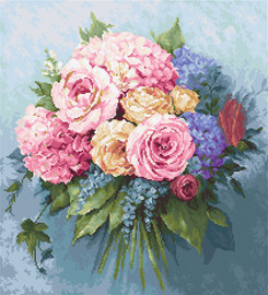 Bouquet Counted Cross Stitch Kit By Luca-S