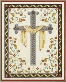His Cross Counted Cross Stitch Kit By Janlynn