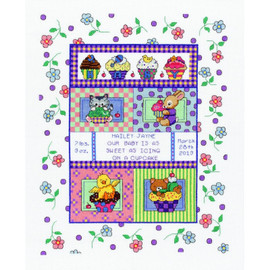 Sweet as a Cupcake Counted Cross Stitch Kit By Janlynn