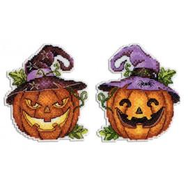 Halloween Pumpkin Cross Stitch Kit On Plastic Canvas By MP Studia