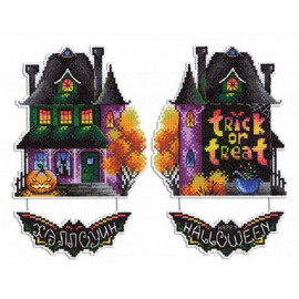 Haunted House Cross Stitch Kit On Plastic Canvas By MP Studia