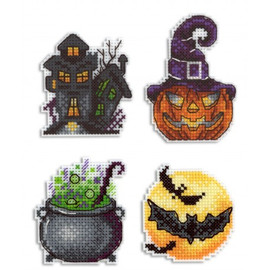 Funny Spookiness Magnet Cross Stitch Kit On Plastic Canvas By MP Studia