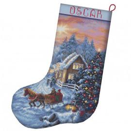 Christmas Eve Stocking Cross Stitch Kit By Letistitch
