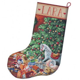 Cosy Christmas Stocking Cross Stitch Kit By Letistitch