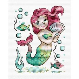 Mermaid (2) Cross Stitch Kit By MP Studia