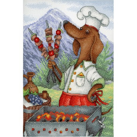 Charming Cook Cross Stitch Kit By MP Studia