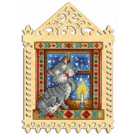 Winter Evening Cross Stitch Kit On Plywood by MP Studia