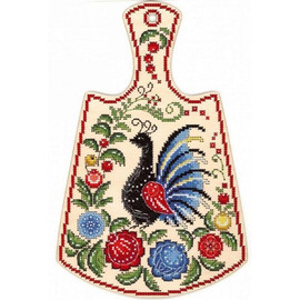 Painted Peacock Cross Stitch Kit On Plywood By MP Studia