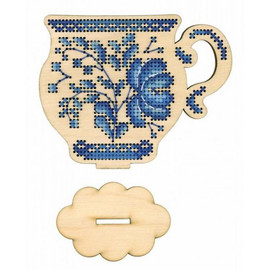 Time To Drink Tea Cross Stitch Kit On Plywood By MP Studia