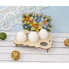 Flower Egg Stand Cross Stitch Kit On Plywood By MP Studia