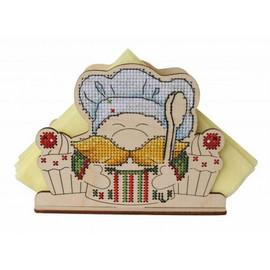Gnome Napkin Holder Cross Stitch Kit On Plywood By MP Studia