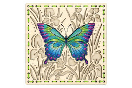 In A Flower Meadow Cross Stitch Kit On Plywood By MP Studia
