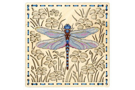 Among The Flowers Cross Stitch Kit On Plywood By MP Studia