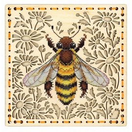 In The Field Of Daisies Cross Stitch Kit On Plywood By MP Studia
