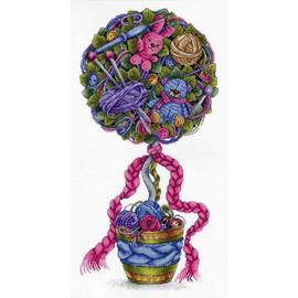 Cosiness Topiary Cross Stitch Kit By MP Studia