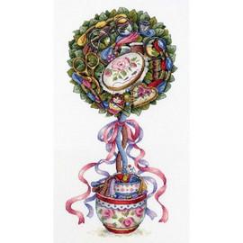 Joy Topiary Cross Stitch Kit By MP Studia