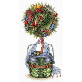 Lucky Catch Topiary Cross Stitch Kit By MP Studia