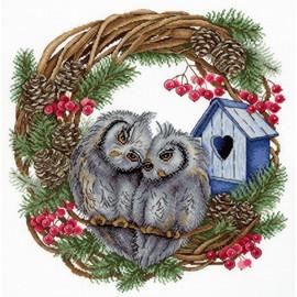 Owl Devotion Cross Stitch Kit By MP Studia